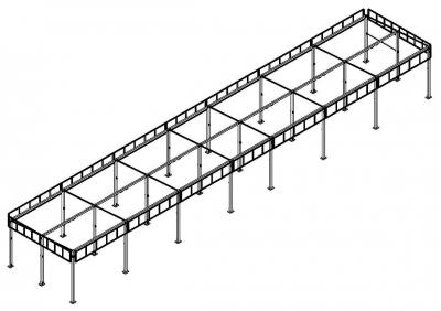 Металлоконструкция автомойки «Стандарт» (6 постов моечных, 1 пост технический)