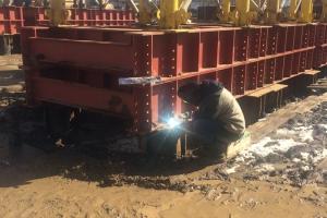 Строительство путепровода (Нахабино)