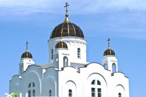 Светопрозрачный купол церкви