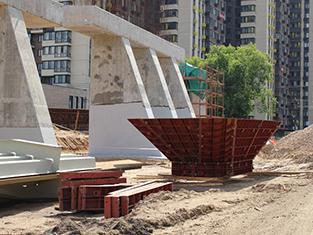 Строительство транспортной развязки на пересечении Волоколамского и Ильинского шоссе в Красногорском районе Московской области